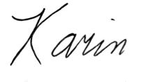 karin signature