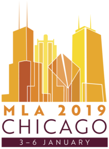 logo for the MLA 2019 convention in Chicago